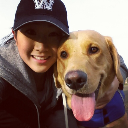 My stress-reliever and method to staying in shape: running with Elroy!