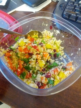 Try bringing quinoa for lunch - it's nutritious and high in fibre, protein and minerals.