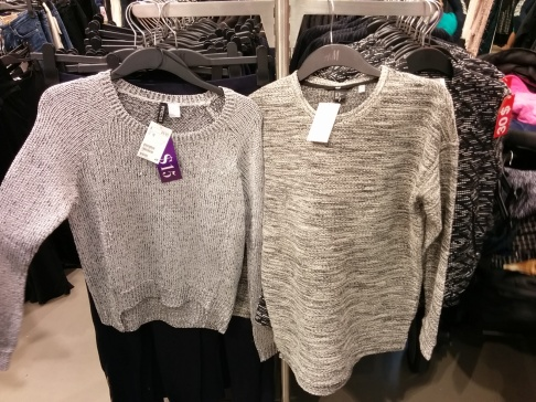 Which sweater to choose from H&M? Both were 50% off!
