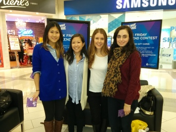 Myself and the three lovely fashion bloggers (L to R: Just J, Style Calling and Coco & Vera)
