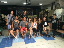 A day out with James' cousins! At the bone museum in Davao