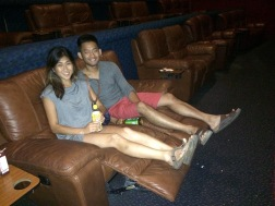Reclining Lazy Boy chairs in the movie theatre!