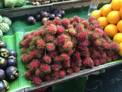 The Sunday Market in Manila, Philippines - Rambutan
