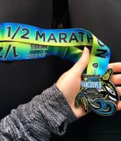 The very pretty RNRVAN finisher medal