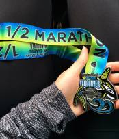 The very pretty RNRVAN finisher medal