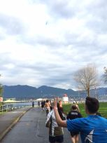 Almost the final stretch. Peace Vancouver! (random guy who noticed me taking a photo haha)